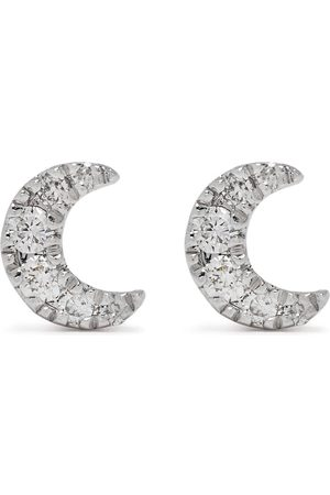 DJULA Herren Ohrringe - 18kt white gold diamond Moon earrings