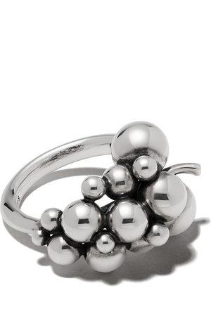 Georg Jensen Damen Ringe - Small oxidised sterling silver Moonlight Grapes ring