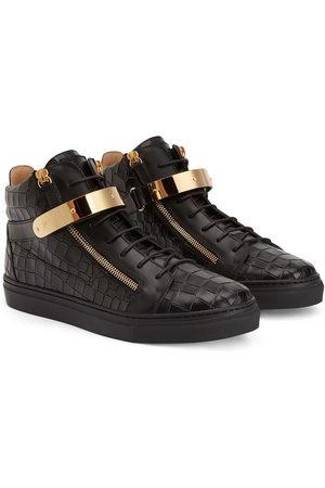 Giuseppe Zanotti Kriss 1/2 python-effect sneakers