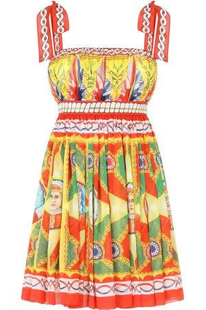 Dolce & Gabbana Damen Freizeitkleider - Graphic-print pleated dress