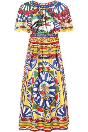 Dolce & Gabbana Graphic-print mid-length dress