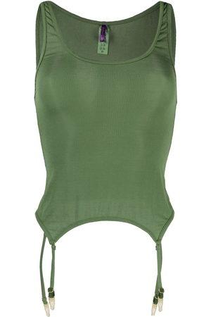 Maison Close Damen Unterhemden & Unterziehshirts - Sleeveless ribbed-knit camisole