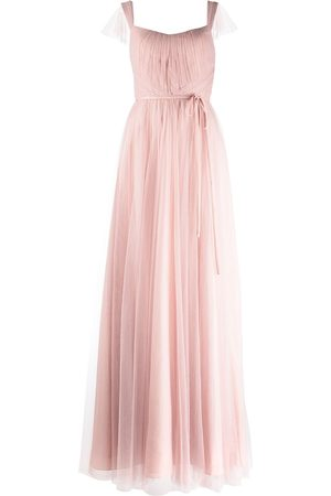 Marchesa Notte Frascati cap-sleeve bridesmaid gown