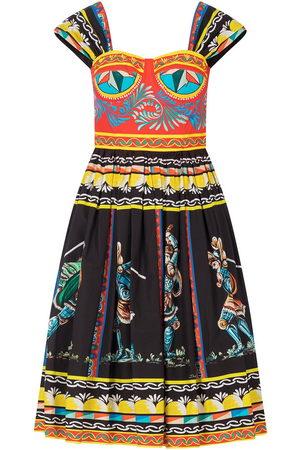 Dolce & Gabbana Mixed-print knee-length dress