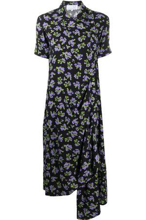 Natasha Zinko Damen Freizeitkleider - Floral print midi draped dress