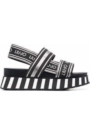 Liu Jo Damen Sandalen - Frida 2 logo-strap sandals
