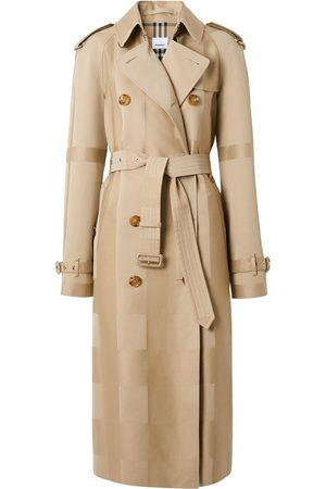 Burberry Waterloo checked trench coat