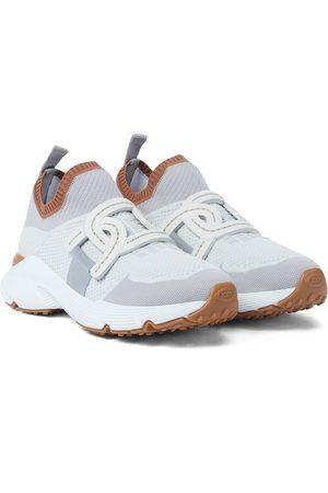 Tod's Sneakers aus Strick und Leder
