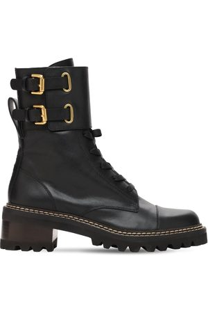 """See by Chloé 40mm Hohe Stiefeletten Aus Leder """"mallory"""""""