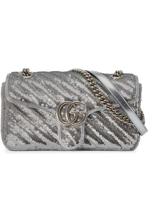 Gucci Damen Umhängetaschen - GG Marmont sequin-embellished shoulder bag