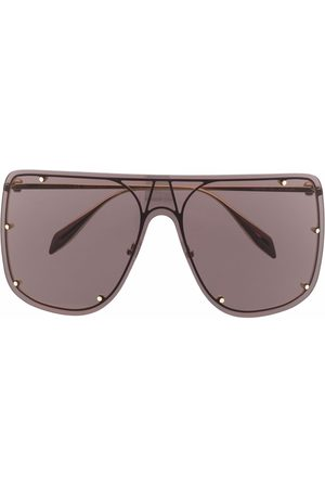 Alexander McQueen Eyewear Stud-detail aviator sunglasses