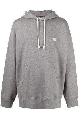 Acne Studios Sweatshirts - Face patch oversized hoodie