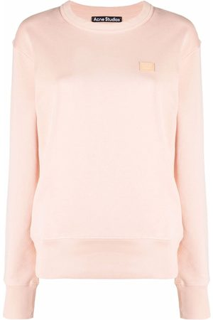 Acne Studios Damen Sweatshirts - Face patch oversized sweatshirt