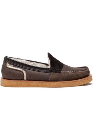 Dolce & Gabbana Shearling-lined loafers
