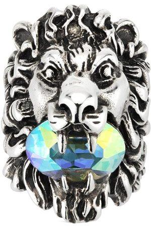 Gucci Crystal -embellished lion head ring