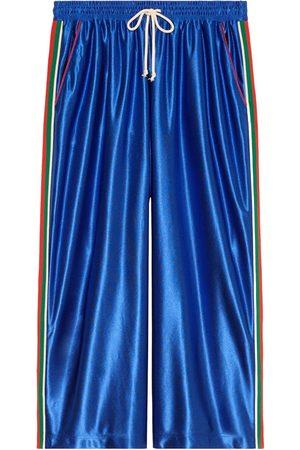 Gucci Web detailing wide-legged track pants