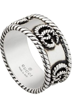 Gucci Double G textured-detail ring