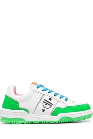 Chiara Ferragni Damen Sneakers - Colour-block leather trainers