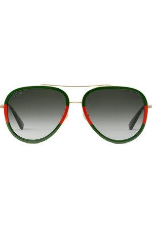 Gucci Damen Sonnenbrillen - Aviator metal sunglasses
