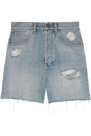 Gucci Eco-washed denim shorts