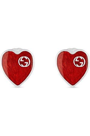 Gucci Herren Ohrringe - GG logo heart earrings
