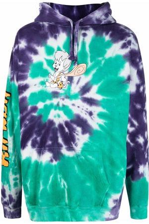 Rip N Dip Spiral tie dye-print cotton hoodie
