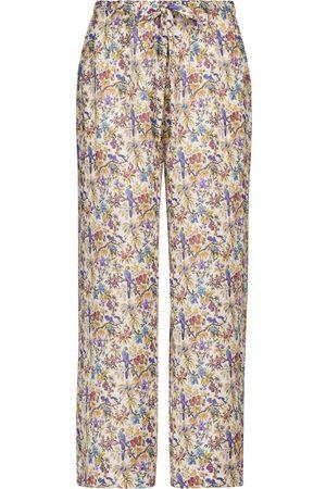 Etro Damen Stoffhosen - Bedruckte Hose aus Ramie