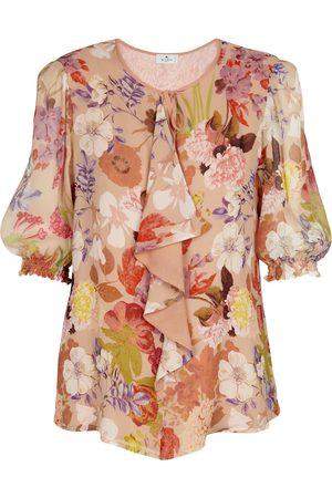 Etro Bedruckte Bluse aus Georgette