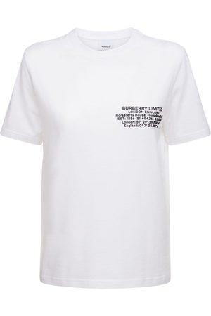 "Burberry Damen Shirts - T-shirt Aus Baumwolljersey Mit ""jemma"""
