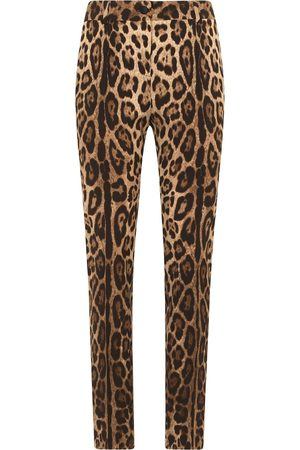 Dolce & Gabbana Leopard print wool trousers