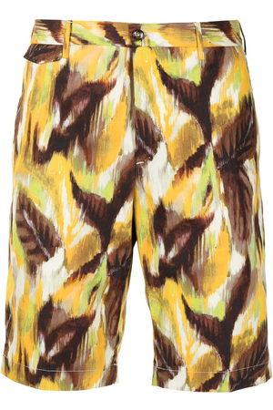 PT01 Herren Shorts - Painterly-print bermuda shorts