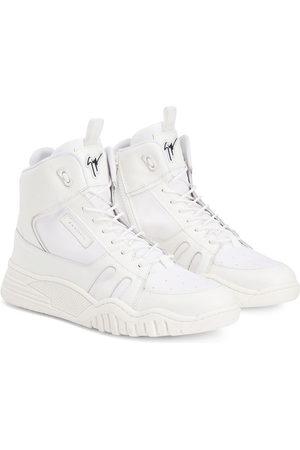 Giuseppe Junior Talon Jr two-tone leather sneakers