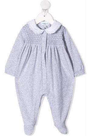 SIOLA Schlafanzüge - Textured panel stretch-cotton pajama