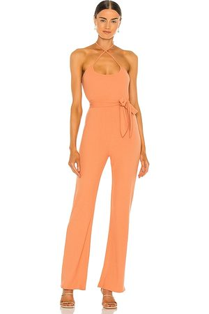 Lovers + Friends Langley Jumpsuit in - Peach. Size L (also in XS, S, M, XL).