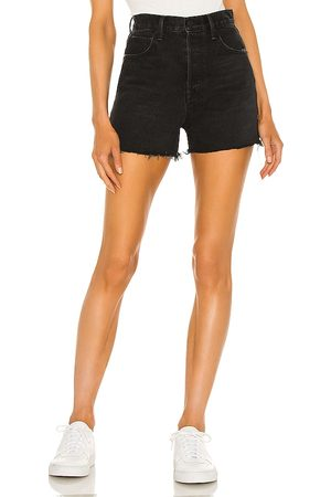 GRLFRND Jules Super High Rise Vintage Short in - Black. Size 23 (also in 26, 24, 25, 27, 28, 29, 30, 31, 32).