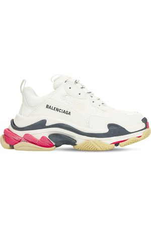 "Balenciaga Damen Sneakers - 60mm Hohe Ledersneakers ""triple S Faux"""