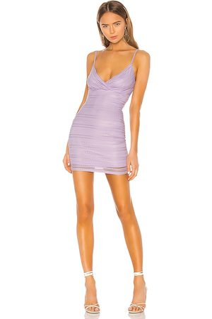 superdown Carissa Mini Dress in - Purple. Size L (also in XXS, XS, S, M, XL).
