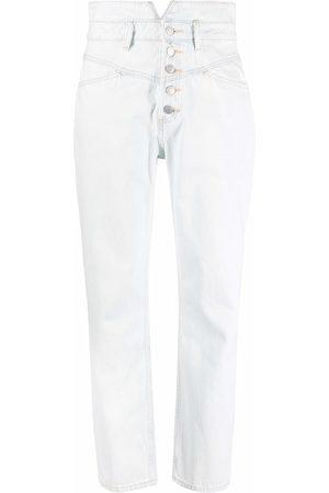12 STOREEZ High-waisted straight leg jeans