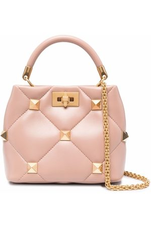 Valentino Garavani Damen Shopper - Small Roman Stud leather bag