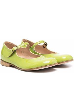 PèPè Round-toe leather ballerinas