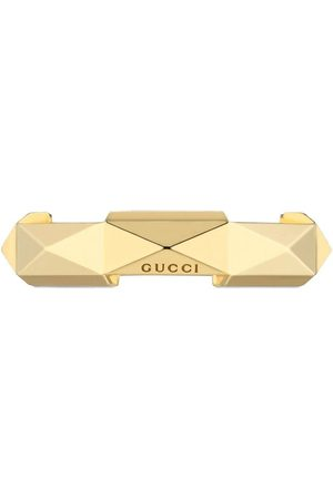 Gucci Ringe - 18kt yellow Link to Love studded ring