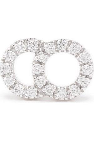 Courbet Damen Ohrringe - 18kt recycled white gold CELESTE small laboratory-grown diamond pavé set mono stud earring