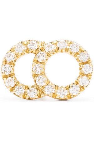 Courbet 18kt yellow Celeste small pavé diamond set mono stud earring