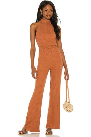 House of Harlow X Sofia Richie Caro Jumpsuit in - Rust. Size L (also in M, S, XL, XS).