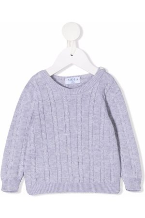 SIOLA Pullover - Cable-knit cotton jumper