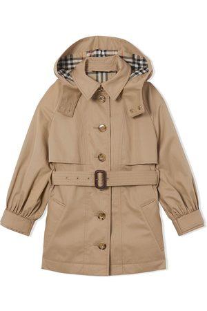 Burberry Mädchen Trenchcoats - Detachable-hood trench coat