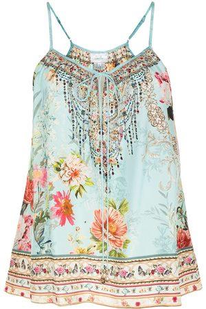 Camilla Floral-print silk vest