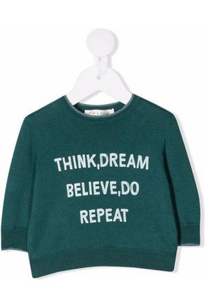 Zhoe & Tobiah Shirts - Slogan-print cotton jumper