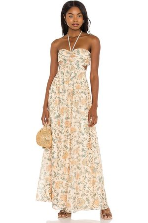 House of Harlow X Sofia Richie Yasmina Maxi Dress in - Peach. Size L (also in XL).