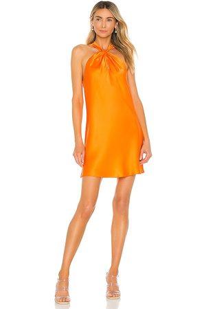 Amanda Uprichard Wanda Dress in - Orange. Size L (also in XS, S, M).